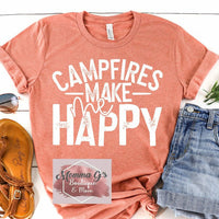 Campfires Make Me HAPPY - Momma G's Boutique