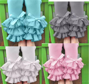 Ruffles Capri's with Bow - Momma G's Boutique