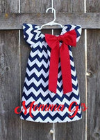 Navy Chevron Dress - Momma G's Boutique