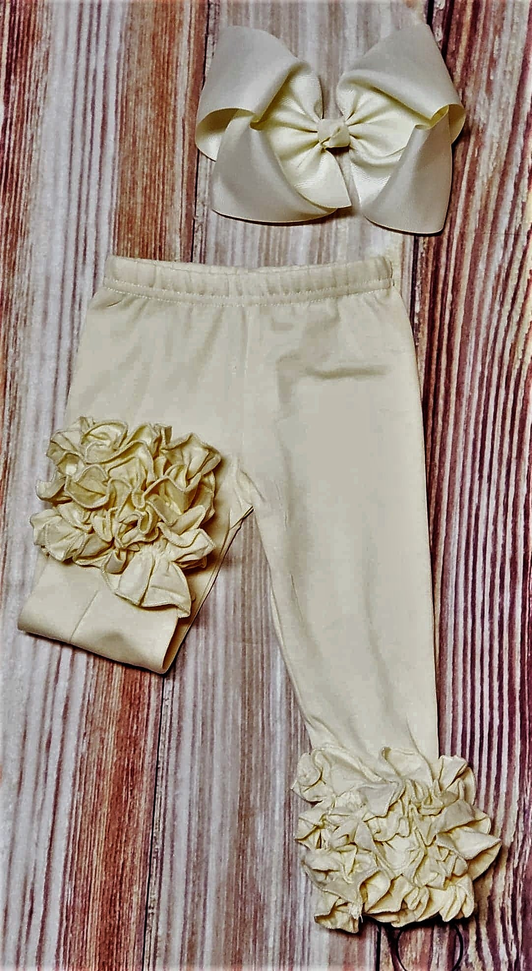 Ivory Icing Ruffle Pants - Momma G's Boutique