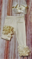 Ivory Icing Ruffle Pants - Momma G's Screen Printing, Embroidery & More