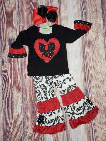 Heart Damask - Momma G's Children's Boutique, Screen Printing, Embroidery & More