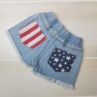 American Flag Shorties - Momma G's Children's Boutique, Screen Printing, Embroidery & More