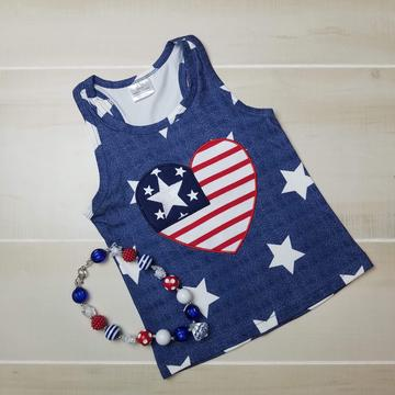 America Heart Tank - Momma G's Boutique