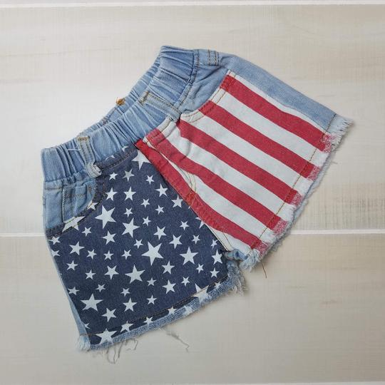 American Flag Shorties - Momma G's Boutique