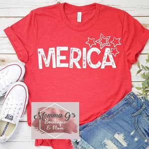 Merica Stars T-shirt, tshirt, tee - Momma G's Children's Boutique, Screen Printing, Embroidery & More
