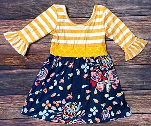 Mustard Floral - Momma G's Boutique