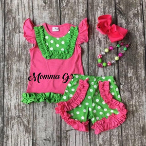 Pink and Green - Momma G's Boutique