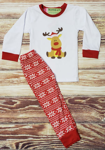 Reindeer Snowflake Pj's - Momma G's Boutique