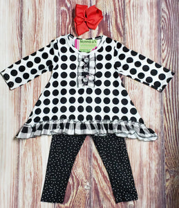 Black Dot Delight - Momma G's Children's Boutique, Screen Printing, Embroidery & More