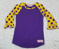 Purple Gold with Polka Dots - Momma G's Boutique