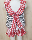 Red White and Blue Bow Set - Momma G's Screen Printing, Embroidery & More