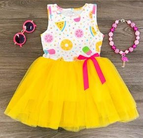Summer Yellow Tutu Dress - Momma G's Boutique