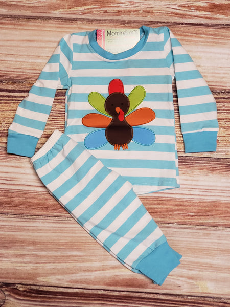 Boys Turkey Pj's - Momma G's Screen Printing, Embroidery & More