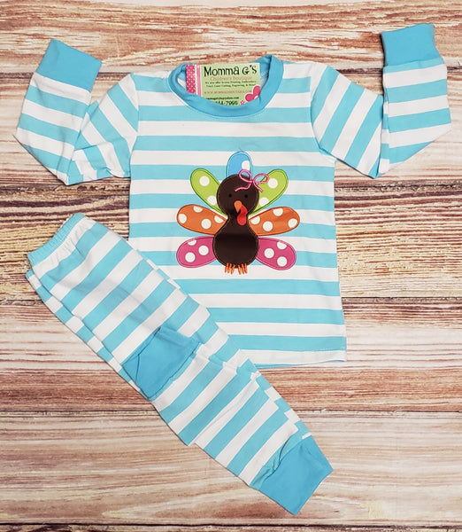 Girl's Turkey Pj's - Momma G's Screen Printing, Embroidery & More