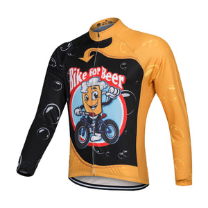 Bike for Beer Long Sleeve Cycling Jersey