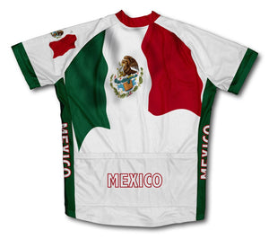 Mexican Flag Waving Cycling Jersey