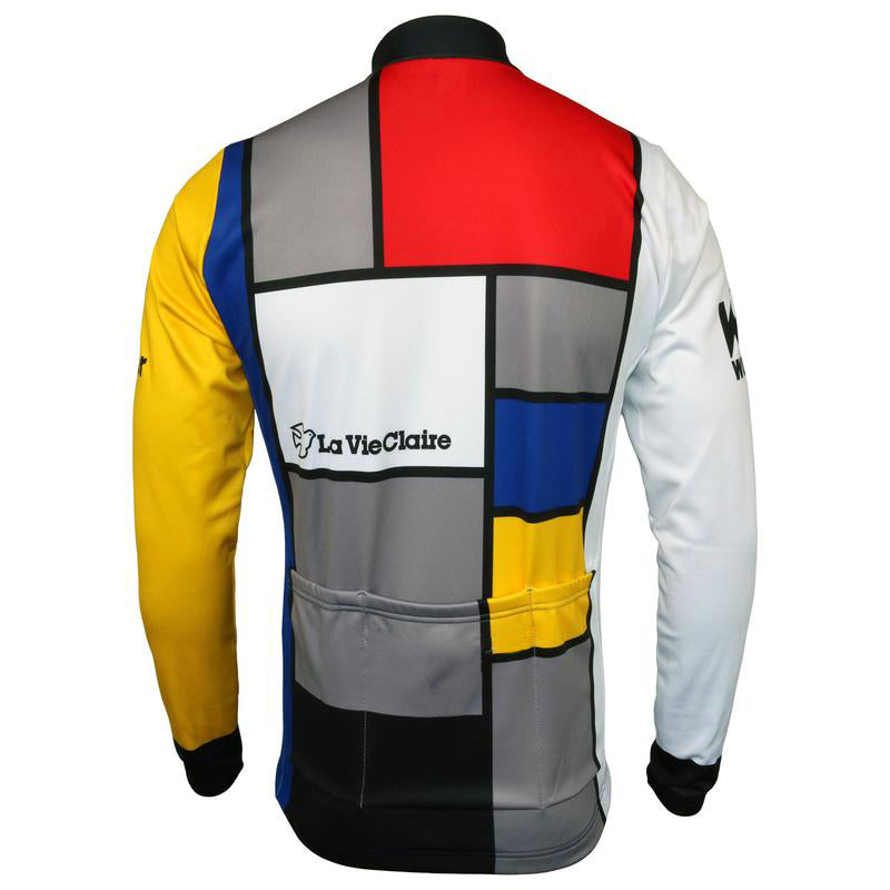 La Vie Claire Throwback Long Sleeve Cycling Jersey