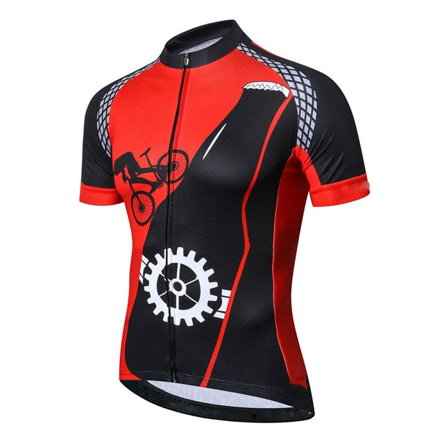 Moxilyn Mens Cycling Jerseys Top Skinsuit Cycling Clothing Mountain Bike MTB Breathable Sweat-absorbing Quick-drying I Love Beer