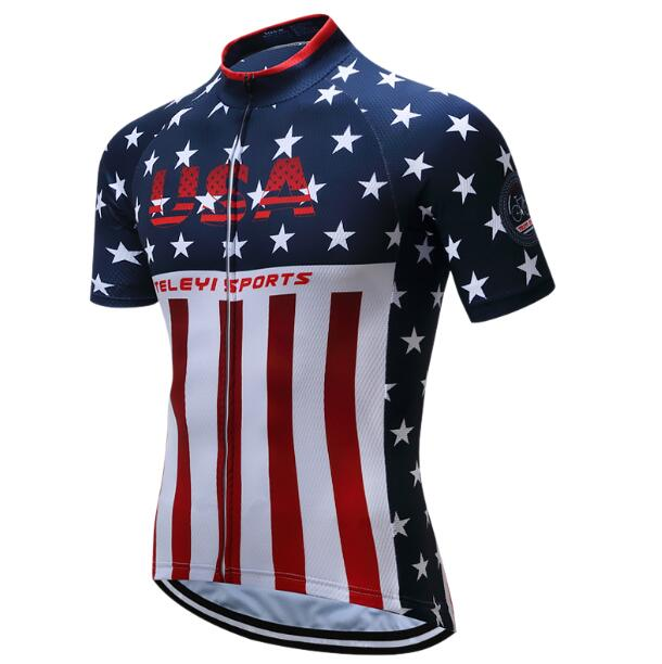 Pro team 2020 new man's cycling jersey set summer USA bike clothing kit mtb maillot bicycle clothes outdoor outfit cyclist suit