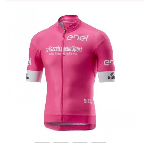 Men's pink tour italy  high quality Pro team Summer Cycling Jersey Short Sleeve Bicycle Jerseys Road Bike Cycling Clothing Tops