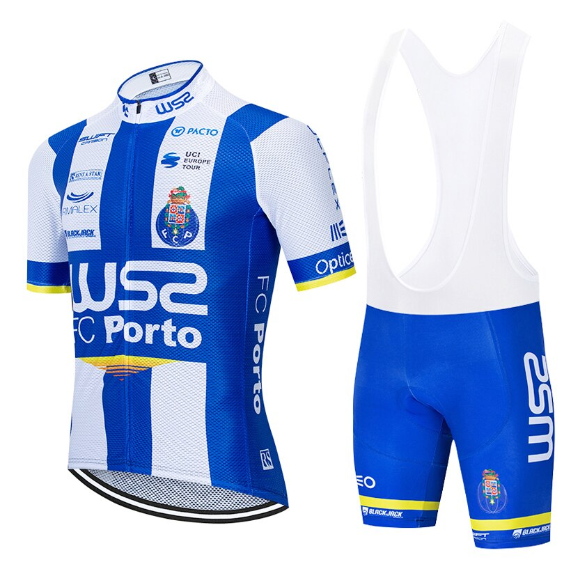 Cycling Jersey 2020 WSS FCPORTO Short Sleeve Bicycling Jersey 20D Shorts MTB Bicycle Clothing Ropa Ciclismo Maillot Bike Wear