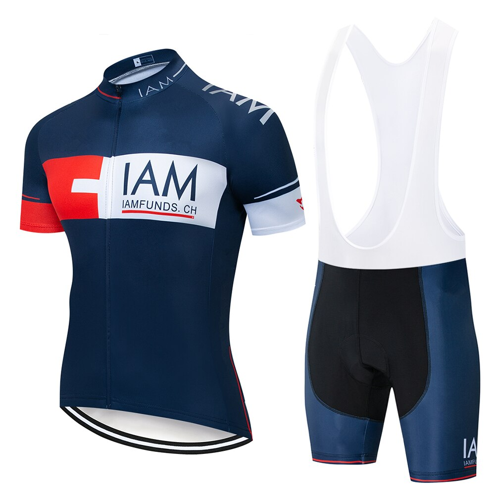 2020 IAM Cycling Clothing Bike jersey Quick Dry Mens Bicycle clothes mens summer team Cycling Jerseys gel bike shorts set