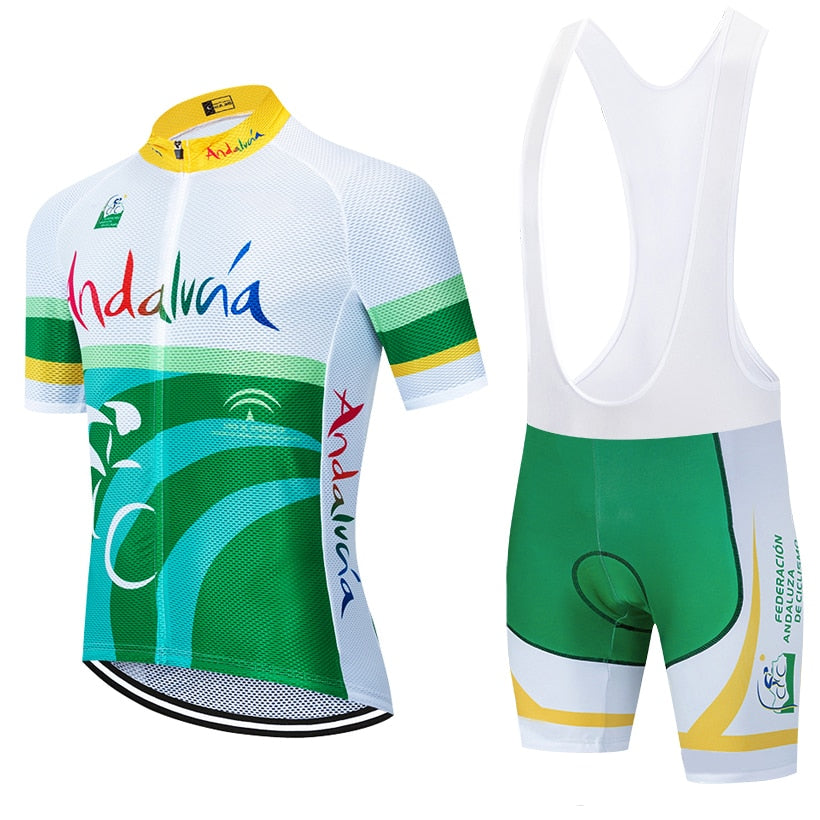 2020 TEAM ANDALUZA cycling jersey bike Pants set 20D Ropa mens summer quick dry pro BICYCLING shirts SHORT Maillot Culotte wear