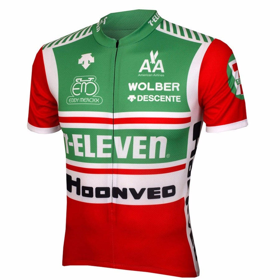 Team 7-Eleven Throwback Retro Cycling Jersey