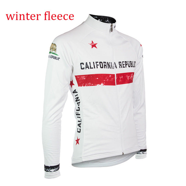 California Republic Cycling Fleece White