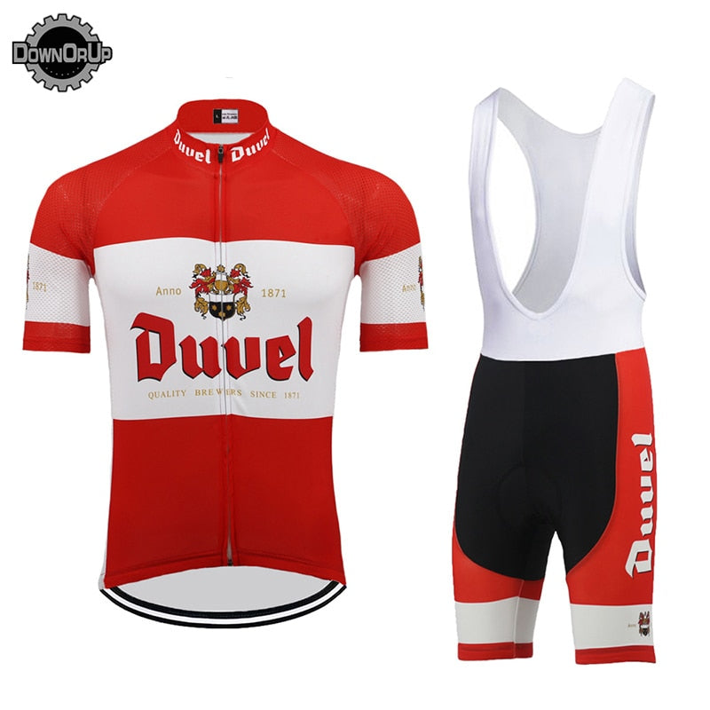 DUVEL beer MEN cycling jersey set red pro team cycling clothing 9D gel breathable pad MTB ROAD MOUNTAIN bike wear racing clothes