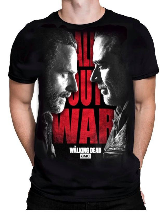 The Walking Dead All Out War - Rick And Negan T-Shirt