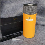 COHIBA  Travel Humidor Box with Long Humidifier Hygrometer.