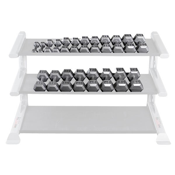 Body Solid 5-30 lb Gray Hex Dumbbell Set (Pairs) - GymBasis Store
