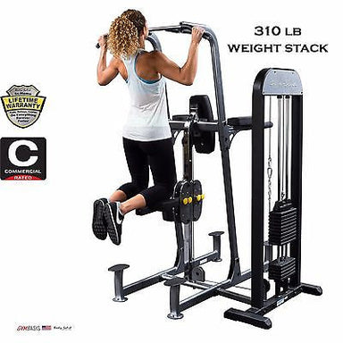 Body-Solid FCD-STK VKR FCD 310 lb Weight Assist Pull Up Dip Power Tower - GymBasis Store