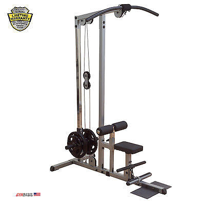 Body-Solid GLM83 Plate Loaded Lat Machine incl. Low Row plate - GymBasis Store