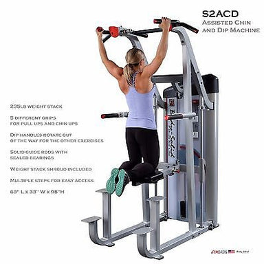 Body-Solid S2ACD Weight Assist 235lb Pull Up Dip Power Tower VKR FCD - GymBasis Store