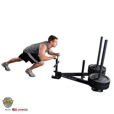 BODY-SOLID GWS100 Push/Pull Heavy Duty Sled, weight sled, crossfit - GymBasis Store