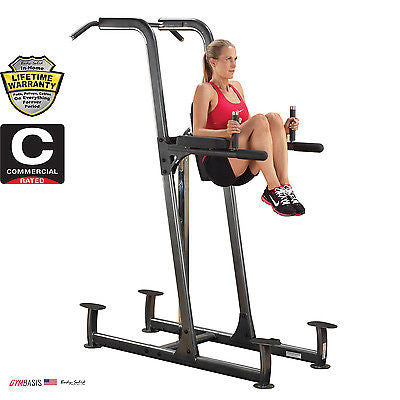 Body-Solid FCD VKR Vertical Knee Raise, Dip and Chin Pull Up Station - GymBasis Store