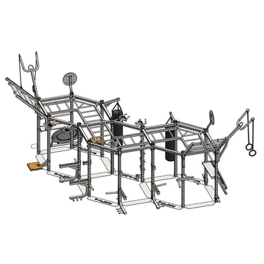 "BodySolid HEXAGON (Triple Package) SHORT 83"" Training Rig System SR-HEXTPLP4 - GymBasis Store"