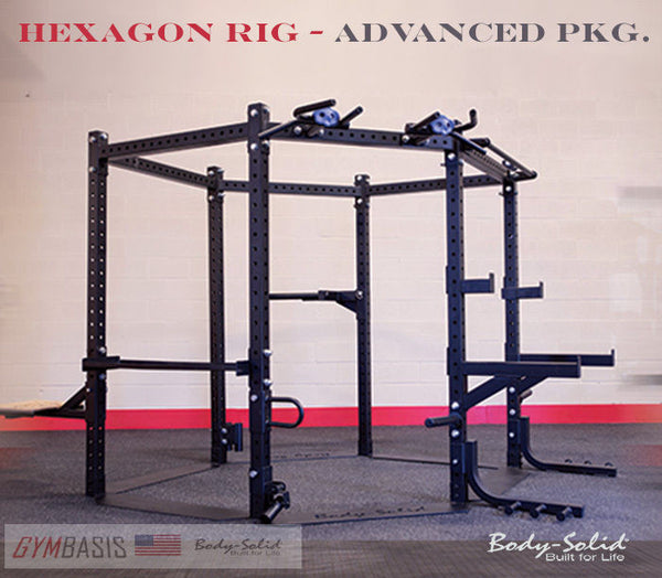 "Body Solid HEXAGON (ADVANCED PKG.) 83"" Training Rig System - SR-HEXADV - GymBasis Store"