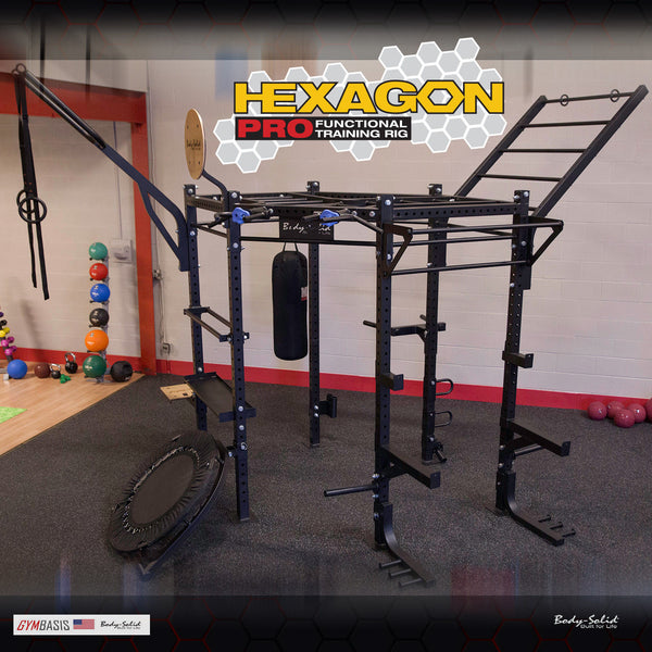 "Body Solid HEXAGON PRO (CLUB PACKAGE) 98"" Training Rig - SR-HEXPROCLUB - GymBasis Store"
