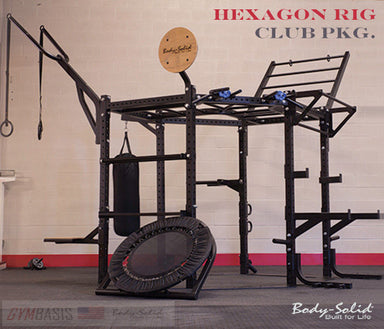 "Body Solid HEXAGON (CLUB PACKAGE) 83"" Training Rig System - SR-HEXCLUB - GymBasis Store"