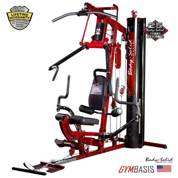 Body-Solid G6B Home Gym Red Line Limited Edition incl. exclusive 260lb Red stack - GymBasis Store