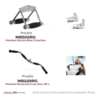 Body-Solid Pro-Grip Cable Bar Attachments MB229RG, MB502RG - GymBasis Store
