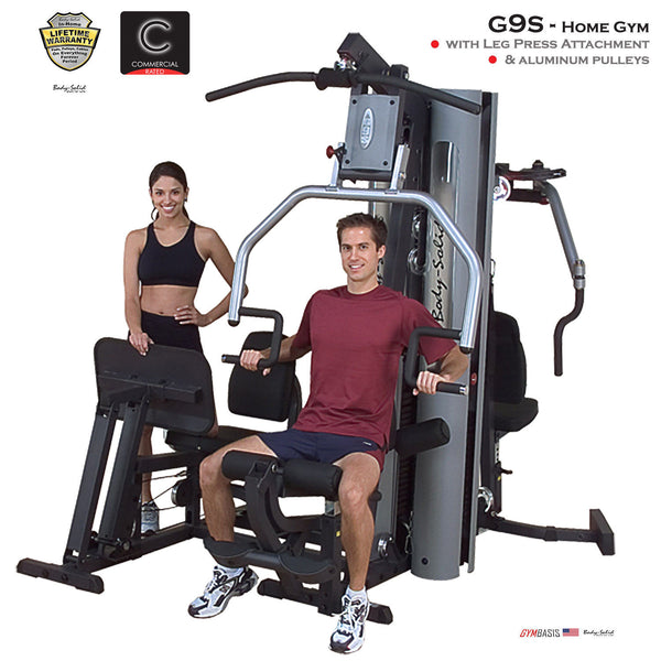 Body-Solid G9S Home Gym w/ Leg Press w/ 2x 210lb stack & alu pulley kit - GymBasis Store