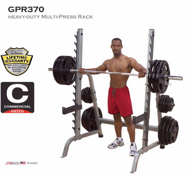 Body Solid GPR370 Multi Press Weight Squat Lifting Rack - GymBasis Store
