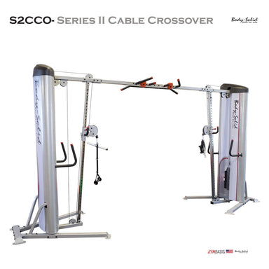 Body-Solid S2CCO Series II Cable Crossover - 310lb Dual Stack (S2CCO/3) - GymBasis Store