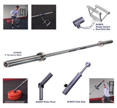 Landmine package: Eyelet, Chin Bar, Club Grip, Plate Pivot, Olympic Bar OB86 - GymBasis Store