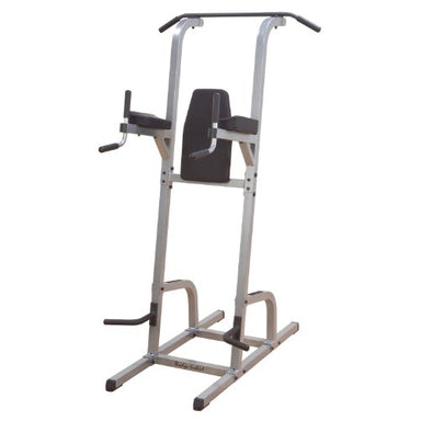 Body-Solid GVKR82 Multi-Function Power Tower With Vertical Knee Raise, Dip Station, Push-Up station, and Pull-Up Station Featuring A Narrow and Wide Grip - GymBasis Store